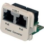Адаптерная вставка AMP CO™ Plus 2xRJ45 Cat.6 POE Converter B->A Fast Ethernet, цвет: миндальный (RAL 9013)