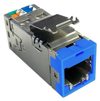 Экранированное гнездо RJ45 AMPTWIST SLX, Cat.6A, цвет:синий, уп.:24