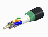 Внешний оптический кабель, волокон: 2, Тип волокна: ОМ4 LazrSPEED® 550, конструкция: до 12 волокон в трубках вокруг центрального силового элемента, бронирование: гофрированная сталь, изоляция: MDPE UV stabilized, диаметр: 11,5 мм, -40 - +70 град., Цвет: чёрный
