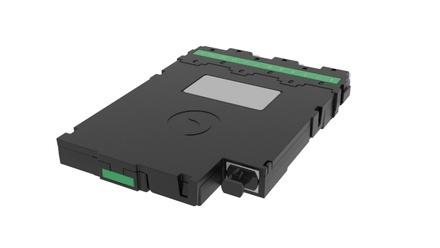 Модуль CHD OS2 6xLC APC Duplex - 1xMPO12(m) Method B Enhanced, key up, цвет: зелёный