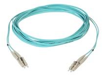 Коммутационный шнур LC/LC-дуплексный OM3 10 GBit XG, оболочка: LSZH диаметр: 1,8 мм, цвет: бирюзовый, длина м: 1
