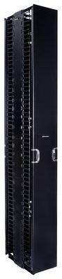 Комплект вертикального кабельного органайзера двустороннего с дверцами; высота мм: 2438; ширина мм: 254; цвет: чёрный