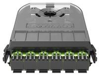 Кассета 360 G2 3хSC Duplex APC, SM TeraSPEED®, с пигтейлами, цвет пигтейлов: A, цвет: зелёный