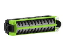 Адаптерная планка 360 G2 12xLC Duplex OM5 шторки: да, цвет: lime