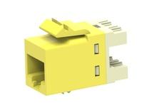 Гнездо SL10G SL110 jack, Cat.6A, раскладка пар: T568A T568B, solid: 22AWG-24AWG, stranded: 24AWG-26AWG, цвет: жёлтый