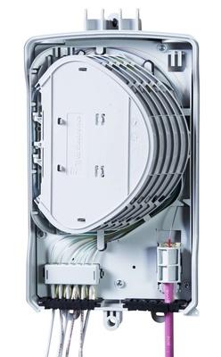 Настенный оптический монтажный бокс серии BUDI, 24 LC/UPC адаптера, FIST Management System, без замка