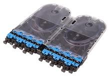 Кассета EHD ULL 12хLC Duplex с ribbon пигтейлами, OS2 G.657.A2, гильзы: 2хFST-ACC006, цвет: синий