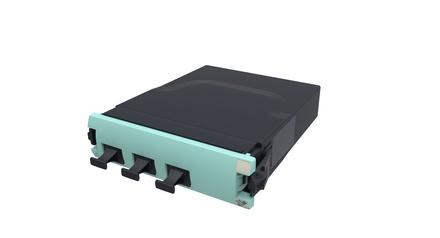 Модуль G2 OM4 LazrSPEED® 500, 3xMPO8(m) - 2xMPO12(f), цвет: бирюзовый