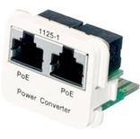 Адаптерная вставка AMP CO™ Plus 2xRJ45 Cat.6 POE Converter B->A Fast Ethernet, цвет: белый (RAL 9010)