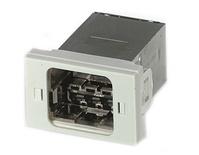 Установочный комплект АMP СО Ultra Swiss FLF: ввод кабеля 180°, Цвет: белый (RAL 9010)