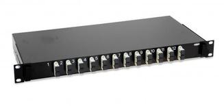 Выдвижная коммутационная панель 12xSC/UPC Duplex MM, Глубина: 300 мм, цвет: чёрный