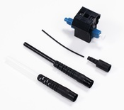 Бесклеевой разъём LazrSPEED® Fiber Qwik II-LC Connector™ SM, установка на кабель: 0.25/0.9/2/3 мм. цвет: синий