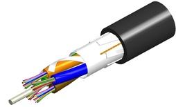 Внешний оптический кабель, волокон: 2, Тип волокна: ОМ4 LazrSPEED® 550, конструкция: LTS до 12 волокон в трубках вокруг центрального силового элемента, бронирование: фиберглассовые пластины изоляция: MDPE UV stabilized, диаметр: 9,3 мм, -40 - +70 град., цвет: чёрный