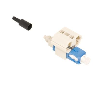 Соединитель TeraSPEED® Fiber Qwik II-SC Connector™ SM, для быстрой установки, цвет: синий