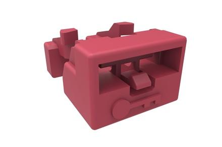Блокиратора порта LC, цвет: красный, уп.: 25