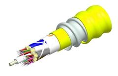 Внутренний оптический кабель, кол-во волокон: 6, Тип волокна: G.652.D and G.657.A1 TeraSPEED® буфер 900мк, бронирование: алюминиевая лента, изоляция: LSZH Riser, EuroClass: B2ca, диаметр: 12,8 мм, -20 - +70 град., цвет: жёлтый