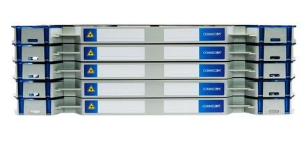 Шасси FACT™ Patch-Only 240 LC/UPC OM4 c 10 поддонами, организация кабеля: left/right routing, цвет: серый, высота: 5E=3.5RU