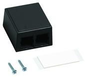 Настенная розеточная коробка M102 под гнездо М-серии, кол-во портов: 2, цвет: чёрный