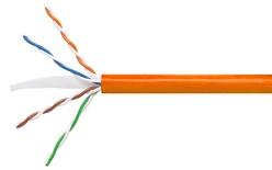 Кабель 4-парный U/UTP Cat.6, 24 AWG, оболочка: LSZH, EuroClass Dca, диаметр: 5,72, NVP 69%, -20-+60 грд, цвет: оранжевый, уп.: коробка 305 м