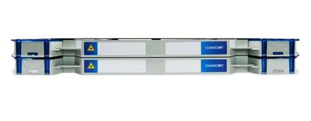 Шасси FACT™ Splice-Patch 48xSC/UPC SM и B-grade пигтейлы, поддон для гильз ANT, организация кабеля: left-hand patch, цвет: серый, высота: 2E=1.4RU