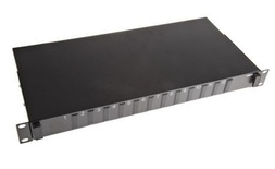 Выдвижная коммутационная панель до 12xSC/UPC Duplex, Глубина: 220 мм, Без адаптеров, цвет: чёрный