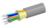 Внутренний оптический кабель, кол-во волокон: 24, Тип волокна: G.652.D and G.657.A1 TeraSPEED® буфер 900мк, конструкция: ODC, изоляция: LSZH Riser, EuroClass: Dca, диаметр: 8,6 мм, -20 - +70 град., цвет: салатовый
