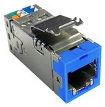 Экранированное гнездо RJ45 AMPTWIST SLX, 6AS, цвет: синий