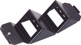 Розеточный блок под SL-гнезда для напольных коробок OBO Bettermann на 6 гнезд (короткая) черная
