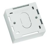 Настенная розеточная коробка под розетку M12D, 86х86х37мм, цвет: белый