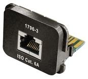 Адаптерная вставка AMP CO™ Plus Cat.6a RJ45 10 GigAEit Ethernet, цвет: чёрный (RAL 9005)