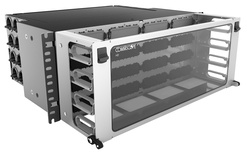Коммутационная панель Systimax High Density 4RU для установки до 16 модулей G2, с фронтальным кабельным органайзером, до 192 LC Duplex или до 128 MPO