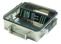 Зональная коробка 610mm x 610mm h=305 mm для установки под фальшполом с направляющими для установки панелей 2х5RU, материал: алюминий, цвет: серебряный