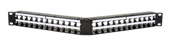 Угловая коммутационная панель 48хRJ45 Cat.5e серии M4800 , высота: 1RU цвет: чёрный
