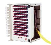 OMX600® Fiber Termination Block, претерминированный пигтейлами 96 SC UPC, SM, цвет: putty white, ориентация: left