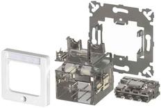 Розетка AMP CO™ Ultra 50x50 мм, ввод кабеля: сверху, слева или справа, цвет: миндальный (RAL 1013)
