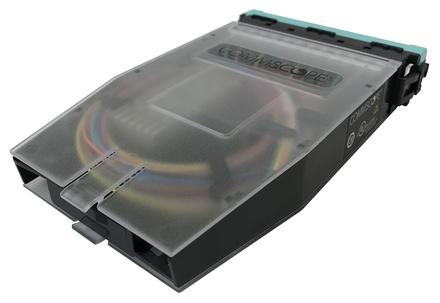 Кассета G2 OM4 12хLC Duplex с держателем сплайсов, с пигтейлами, цвет: бирюзовый