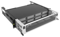 Выдвижная коммутационная панель Systimax High Density 2RU, для установки до 8 пигтейл-кассет G2, с фронтальным кабельным органайзером, до 96 сварных сплайсов при использовании Splice Wallet® или 64 сварных сплайса при использовании RoloSplice®