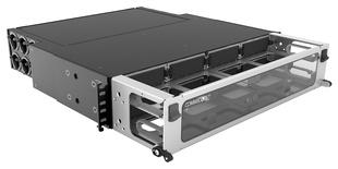 Выдвижная коммутационная панель Systimax High Density 2RU iPatch® ready для установки до 8 модулей G2, с фронтальным кабельным органайзером, до 96 LC Duplex или до 64 MPO