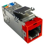 Экранированное гнездо RJ45 AMPTWIST SLX, Cat.6, цвет: красный