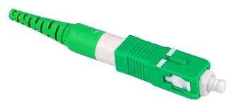 Бесклеевоё разъём Qwik-Fuse, Интерфейс: SC, Волокно: SM-APC, на кабель 3.0 mm, Цвет: Зелёный, уп-ка: 12