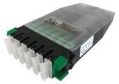 Кассета G2 OS2 6хSC APC Duplex с держателем сплайсов, с пигтейлами, цвет: зелёный