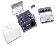 Розетка AMP CO™ Ultra 45x45 мм Mosaic, цвет: миндальный (RAL 1013)