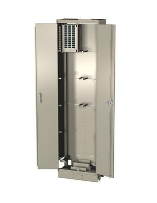 Оптический шкаф высокой плотности OMX600® Fiber Skeleton Bay, габариты мм: 2200х600х300, цвет: putty white