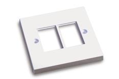 Рамка серии BS на 2 лицевых панели LJ6C (25х39), Цвет: белый