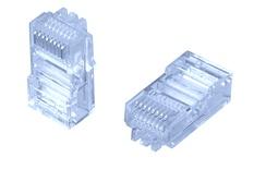 MP-88U-RS-5: Модульная вилка RJ45 8-поз./8-конт. Cat.5; для круглого кабеля D=5,1, d=0,74-0,86, AWG:26-24; уп.: 500шт.