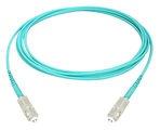 Коммутационный шнур SC-UPC/SC-UPC, волокно: OM4 LazrSPEED® 550, оболочка: Riser, диаметр: 1.6, цвет: бирюзовый, цвет разъёма: бежевый, длина м: 10