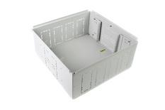 Зональная коробка 551mm x 551mm h=251 mm для установки под фальшполом с направляющими для установки панелей 2х4RU, материал: сталь, цвет: светло-серый