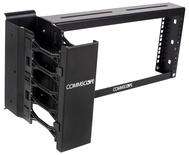 """Подвес к лестничному лотку с вертикальным кабельным олрганайзером (VCM) для крепления 19"""" коммутационных панелей, высота: 4RU"""